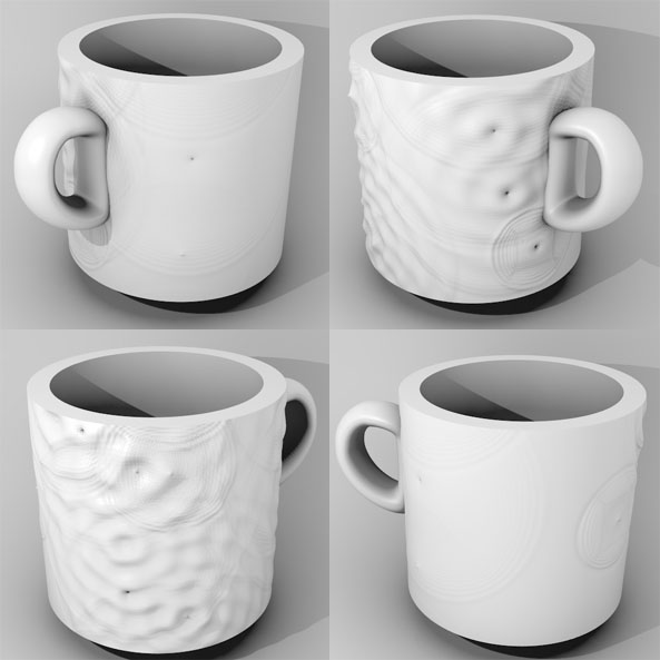 3d printed glazed ceramic cup